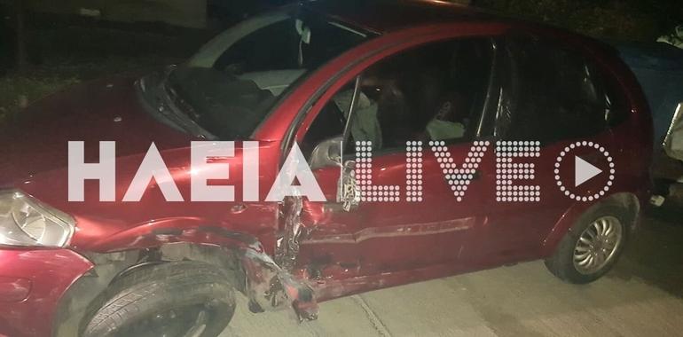 Πατρών - Πύργου: Τροχαίο ατύχημα με πλαγιομετωπική στα Χανάκια