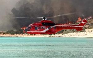 Νέα μεγάλη αναζωπύρωση στην Ελαφόνησο - Μεταβαίνουν εσπευσμένα με ελικόπτερο ο γγΠΠ  με ομάδα της EMAK