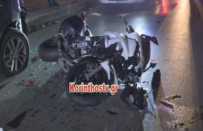 Τραγωδία στην Κόρινθο: Nεκρή 42χρονη μετά από τροχαίο με μηχανή (video - pics)