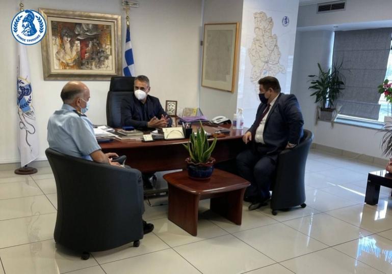 Με τον Αρχηγό της Ελληνικής Αστυνομίας συναντήθηκε ο Δήμαρχος Τρίπολης