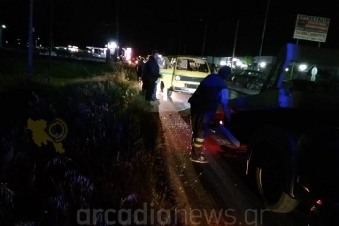 Τροχαίο ατύχημα στον δρόμο Τεγέας-Τρίπολης με τραυματίες (video)